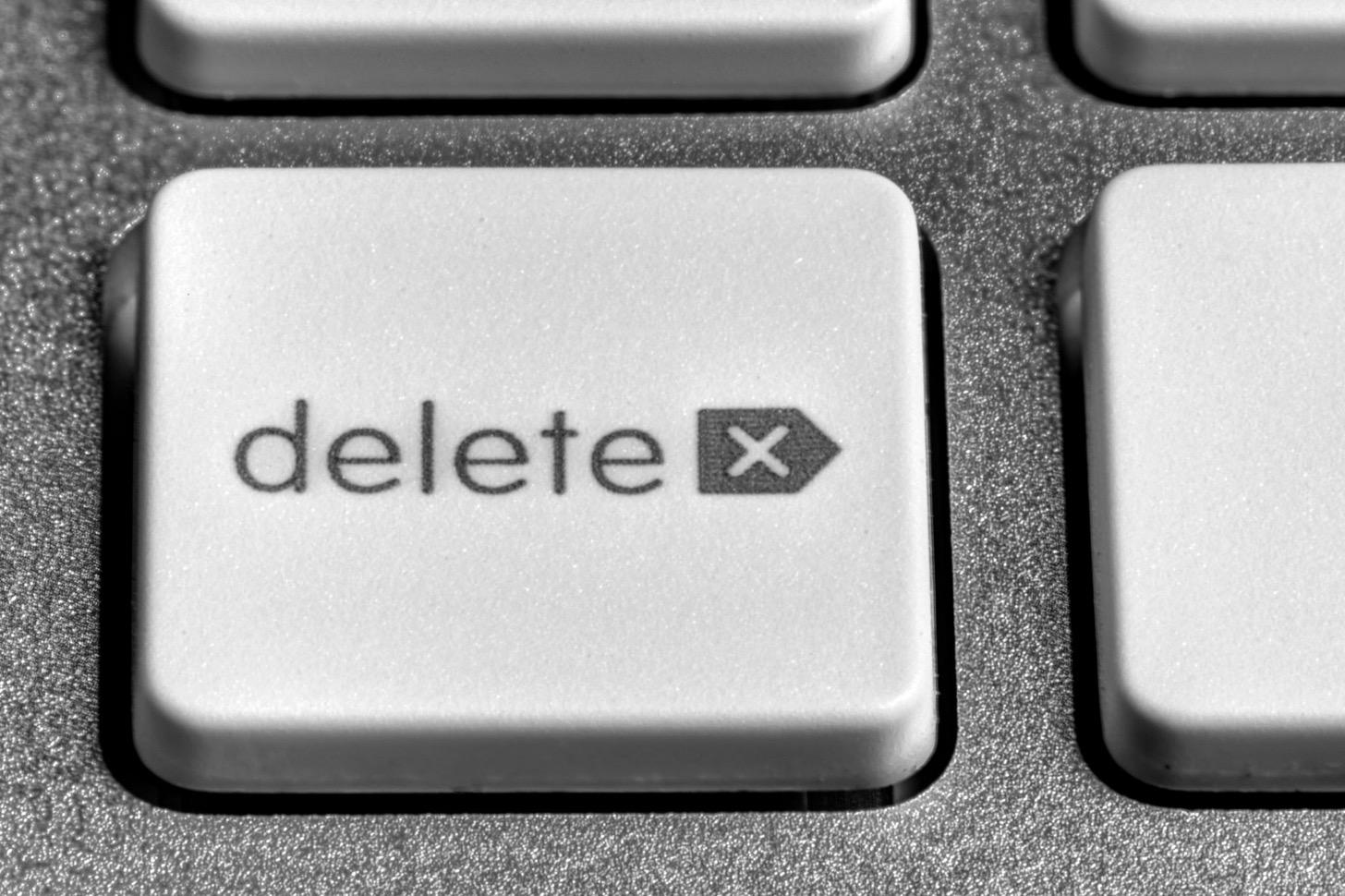 デリートボタン